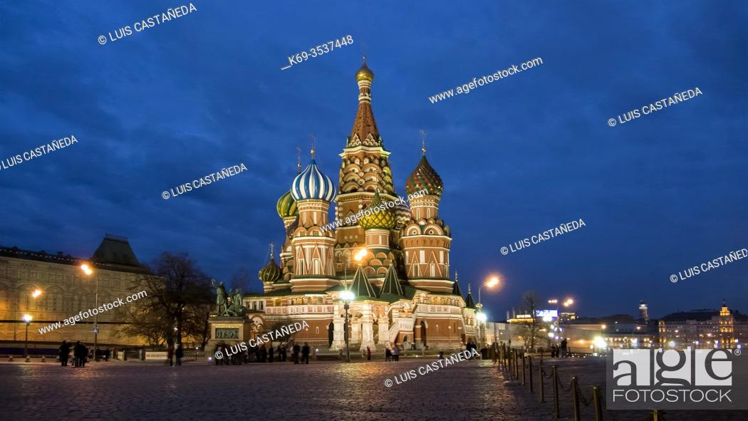 Stock Photo: St. Basil Cathedral. The Red Square. Moscow. . Russia.