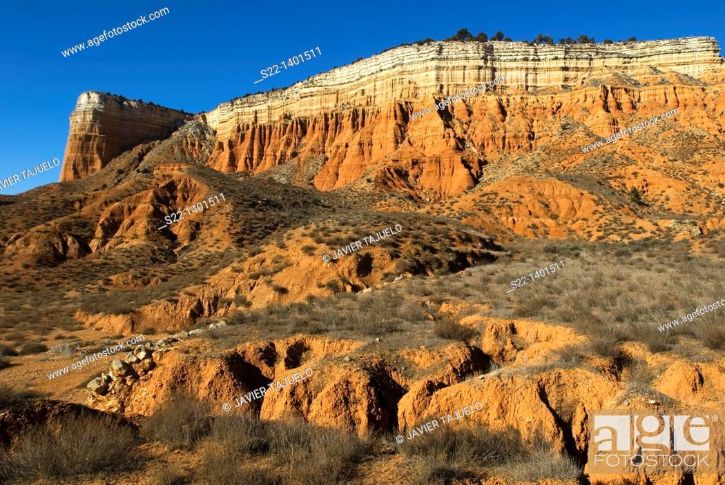 Stock Photo: Rambla de Barrachina, Teruel province, Aragón, Spain.