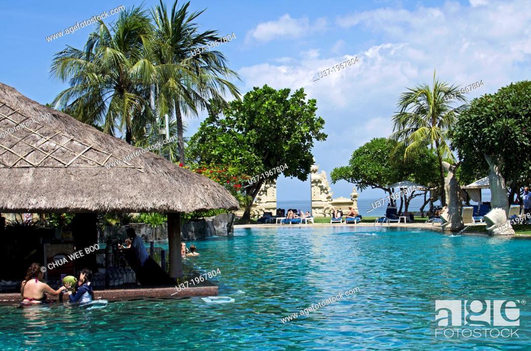 Stock Photo: Discovery Kartika Plaza Hotel & Villas, Kuta, Bali, Indonesia.