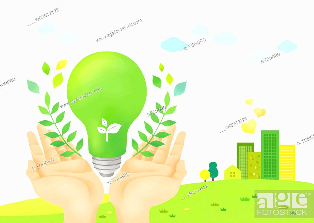 Imagen: Environmental protection with eco green energy.