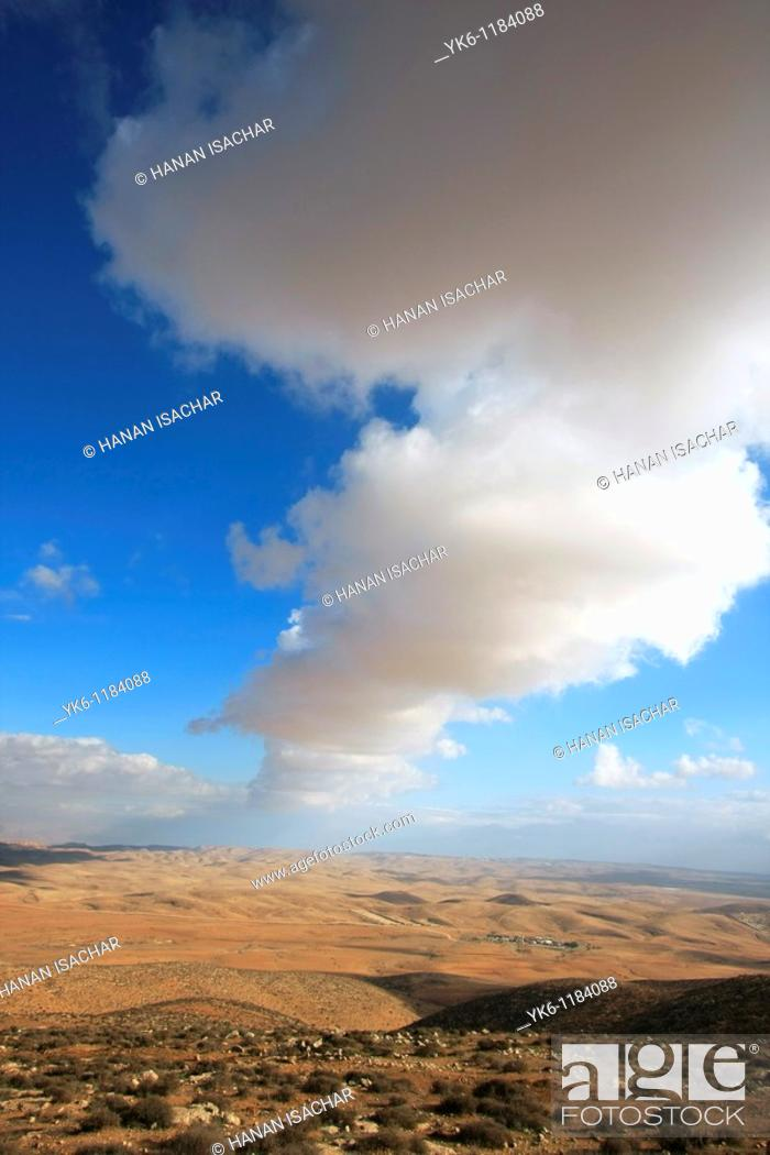 Stock Photo: Israel, Southern Hebron Mountain, a viiew from Mount Amasa.