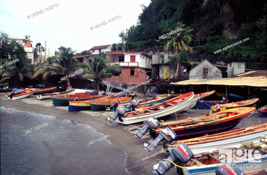 Stock Photo: Martinique, Village Grand&39, Rivière.