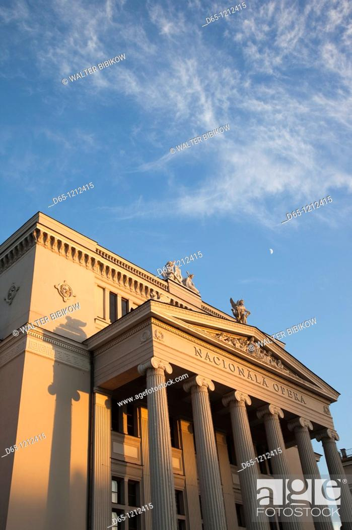 Stock Photo: Latvia, Riga, Vecriga, Old Riga, Latvian National Opera, exterior, sunset.
