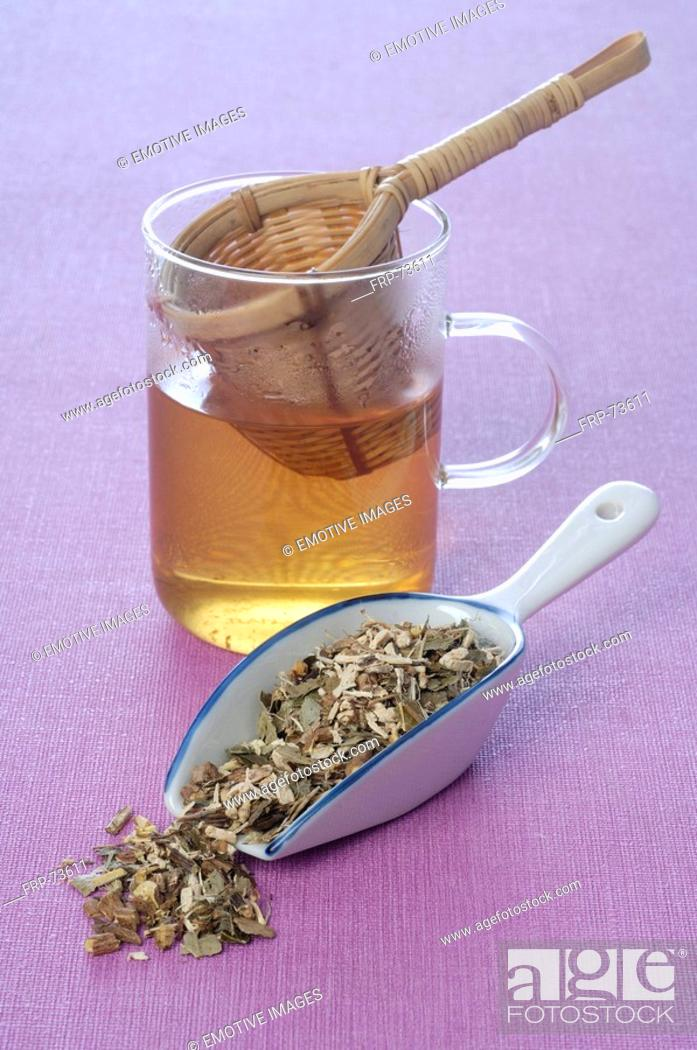 Stock Photo: Natural healing: herb tea.