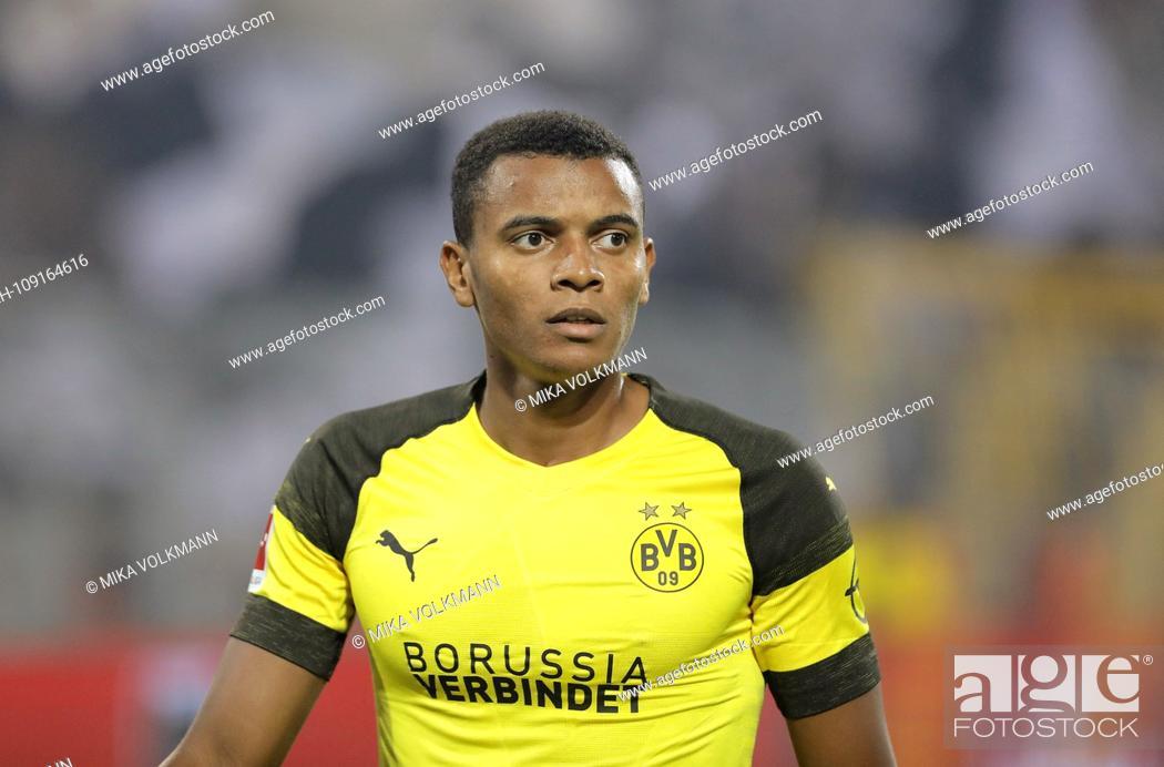 Stock Photo: Dortmund, Signal-Iduna-Park, 14.09.18: Manuel Akanji (Borussia Dortmund) looks forward in the match of 1. Bundesliga between Borussia Dortmund vs.