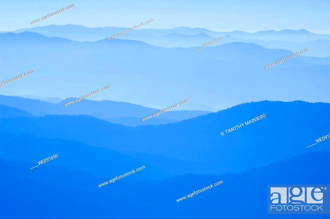 Stock Photo: View from Clingman's Dome, Great Smoky Mountains National Park, Border of North Carolina and Tennessee.