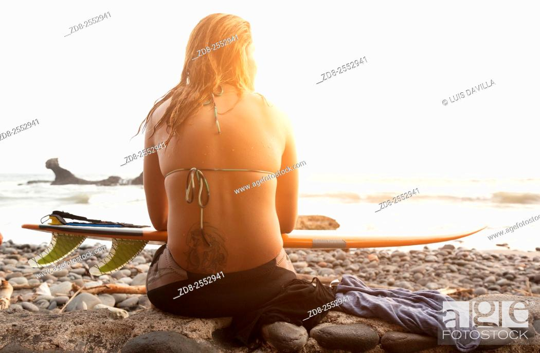 Stock Photo: la libertad beaches surf. el salvador.
