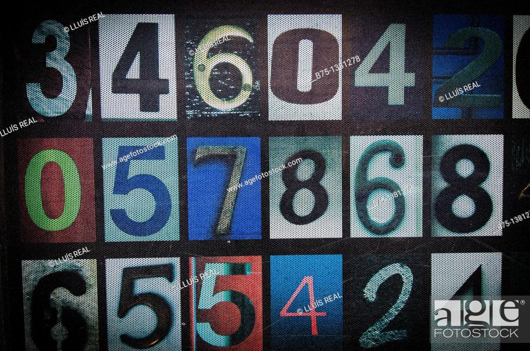Stock Photo: Numbers.
