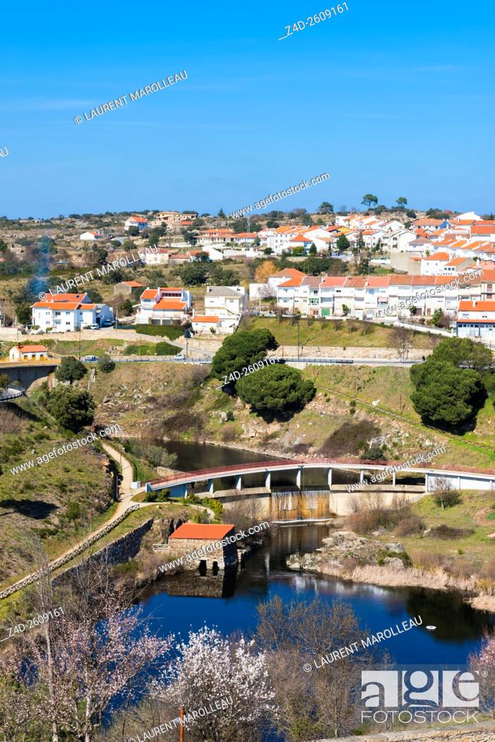Stock Photo: Urban Park of the River Fresno at Miranda do Douro, Braganca District, Norte Region, Portugal, Europe.