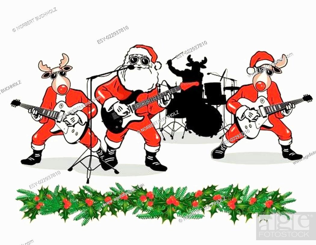 Stock Vector: Weihnachtsband.
