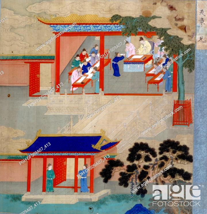 Stock Photo: Jint Song from the Song dynasty (960-1280). The Emperor wanted to know which ones, among his subjects, were able to govern his empire at the best.