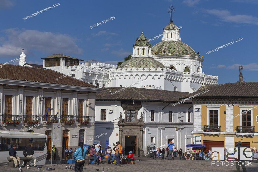 Stock Photo: Church of La Compania de Jesus, Quito, Ecuador.