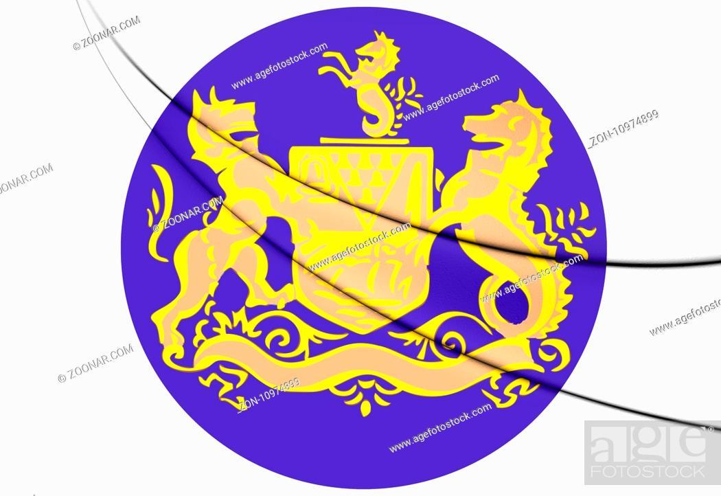 Stock Photo: Belfast Coat of Arms, Northern Ireland. 3D Illustration.