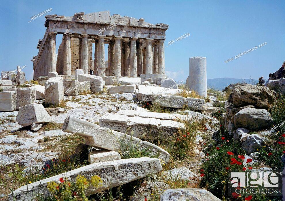Stock Photo: Parthenon, Acropolis, Athens, Greece, Europe.