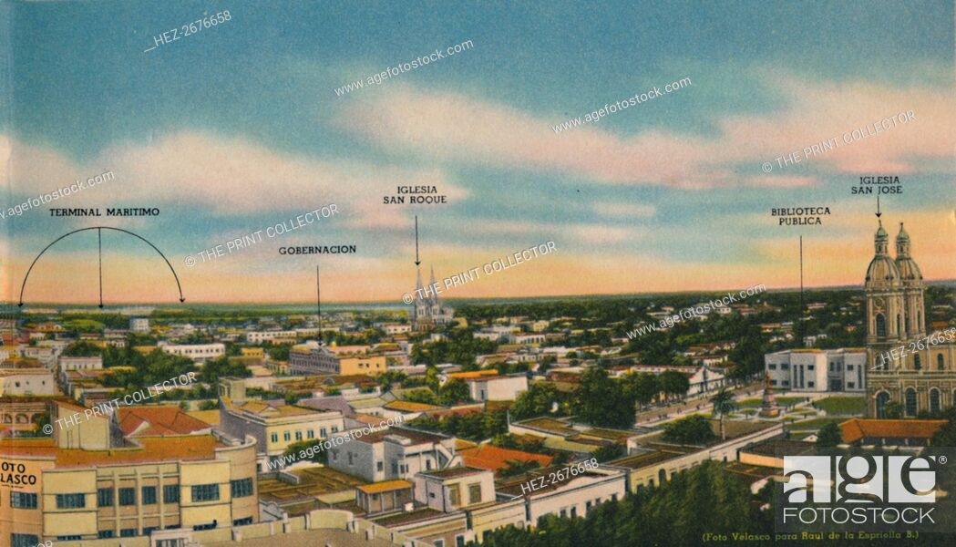 Stock Photo: 'Panorama of Barranquilla (Central Sector)', c1940s. Artist: Unknown.