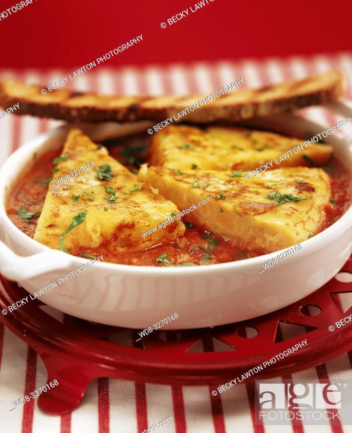 Stock Photo: tortilla guisada.