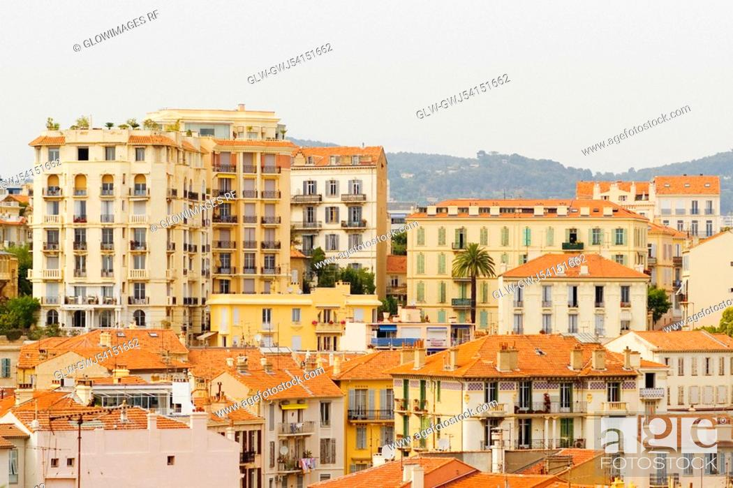 Stock Photo: Buildings in a city, Cote d'Azur, Cannes, Provence-Alpes-Cote D'Azur, France.