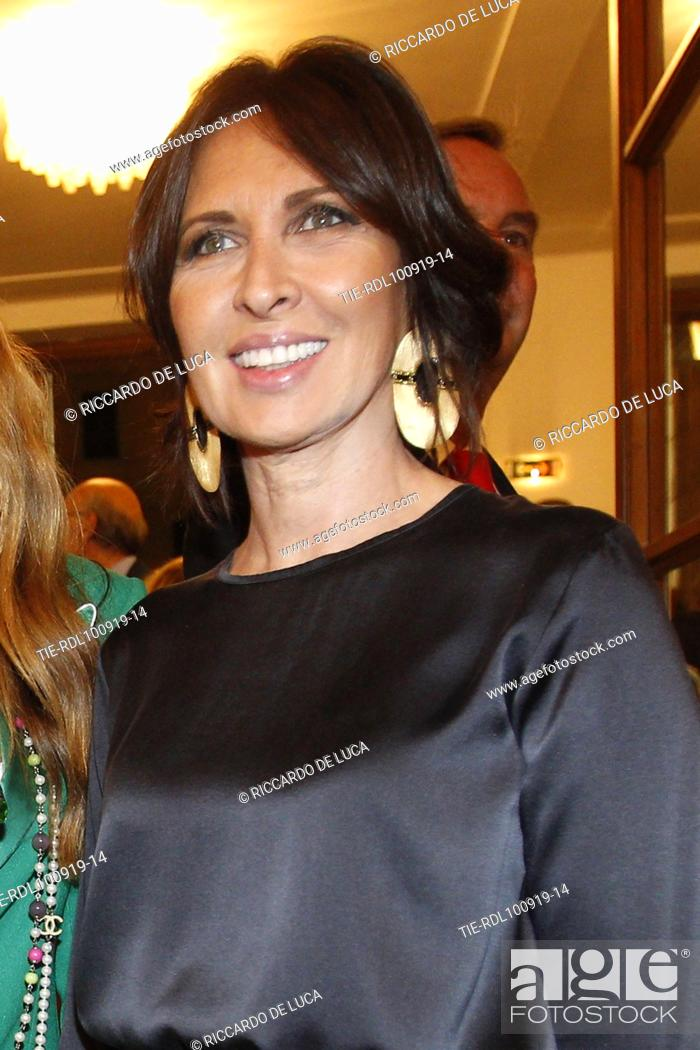 Stock Photo: Raffaella Leone arrives at the Premiere of theatrical performance ' Waiting for the Sibyl ' at Opera Theatre of Rome, ITALY-10-09-2019.