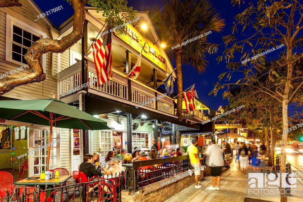 Cafe Restaurant Duval Street Key West Florida Usa Stock Photo