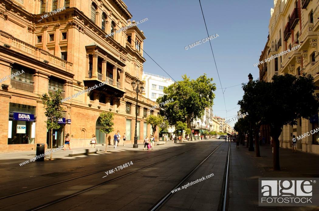 Stock Photo: Europe, Spain, Sevilla, Street details, urban Style, Puerta Jerez.