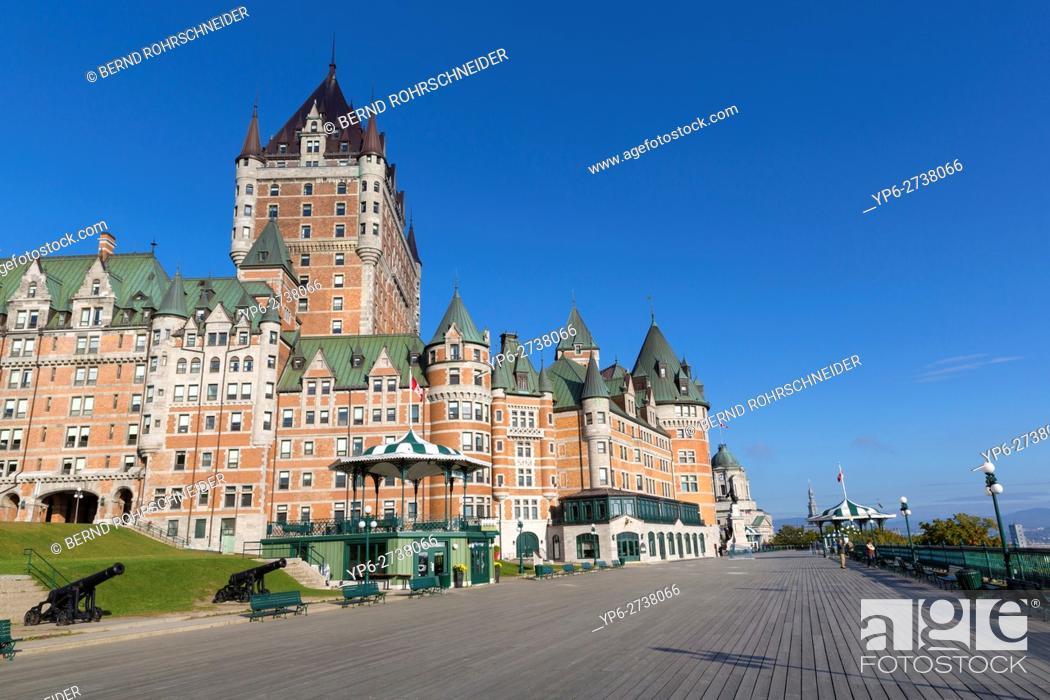 Stock Photo: Château Frontenac, Quebec, Canada.