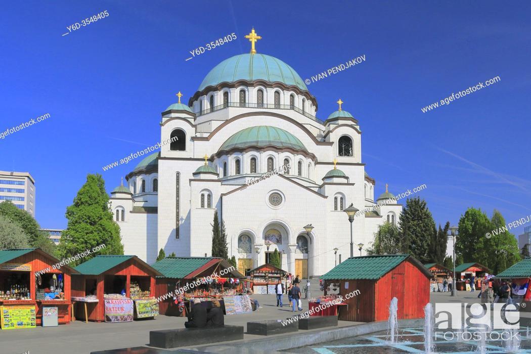 Stock Photo: Church of Saint Sava, Belgrade, Serbia.