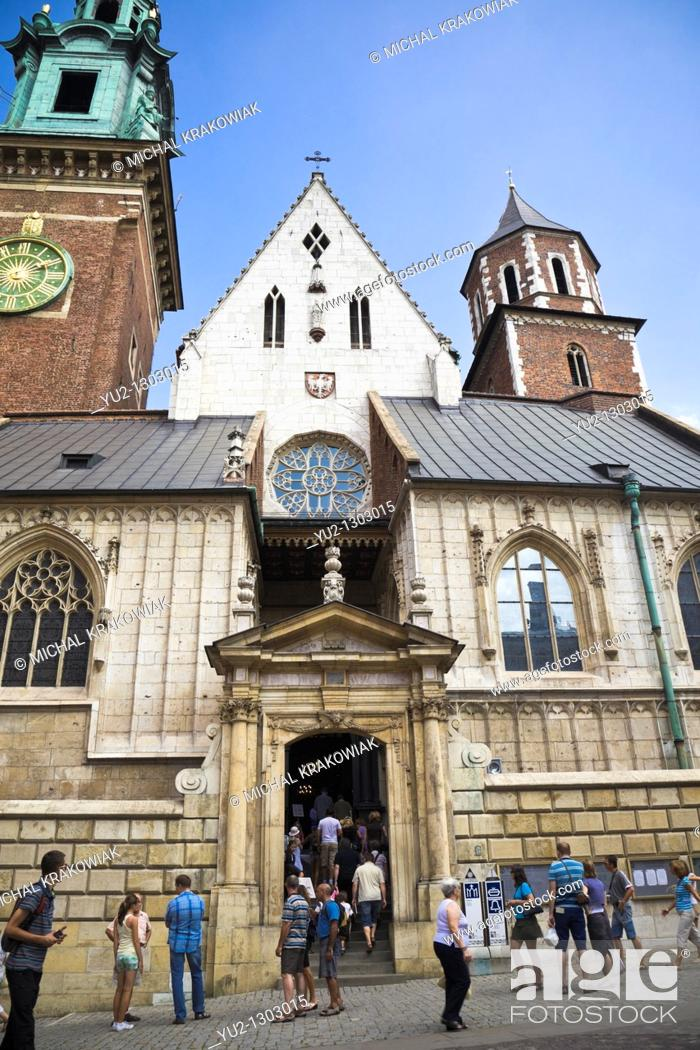 Stock Photo: Entrance to Wawel Cathedral on Wawel Castle in Krakow, Poland.