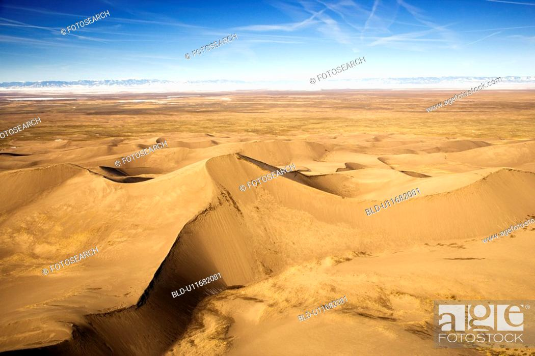 Stock Photo: Scenic landscape of Great Sand Dunes National Park in Colorado.