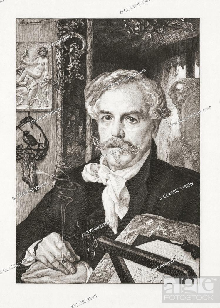 """Stock Photo: Edmond de Goncourt, 1822 â. """"1896, born Edmond Louis Antoine Huot de Goncourt. French writer, literary critic, art critic."""
