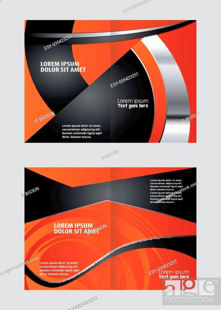 Vecteur de stock: Bi-Fold Brochure Design.