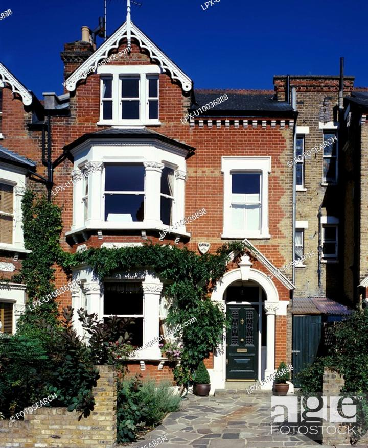 Stock Photo: Mid terrace Victorian house, south London.