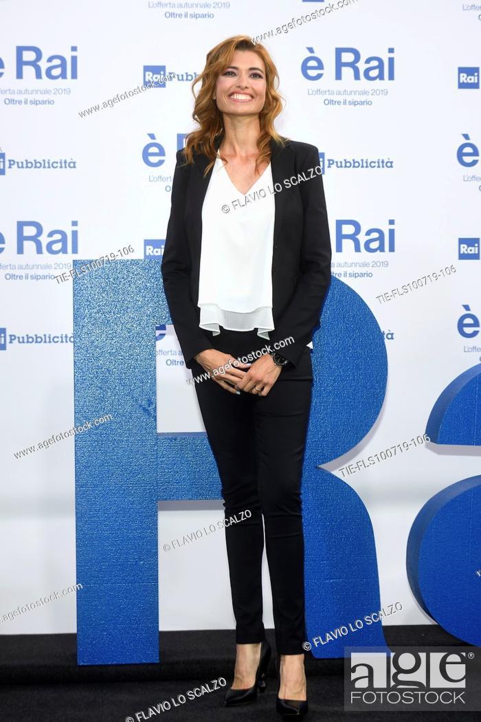 Stock Photo: Carlotta Mantovan during the Rai programming launch in Milan, ITALY-09-07-2019.