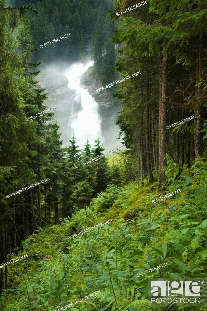 Stock Photo: Cascades in the Alps.