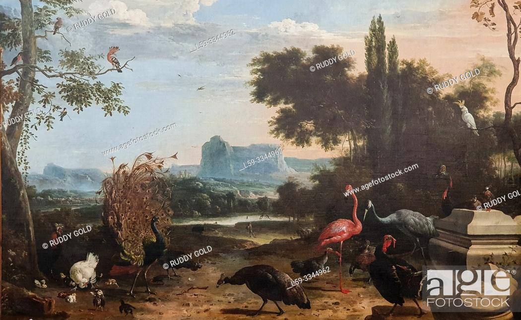 Imagen: 'Bird Park with View of the Driemond Country Estate', 1670, Melchior d'Hondecoeter (1636-1695).