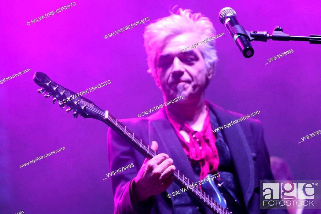 Stock Photo: MUSICA IDENTITÀ RIVOLUZIONE Festival of ethnic and author music, concert with Morgan . In photo Morgan.