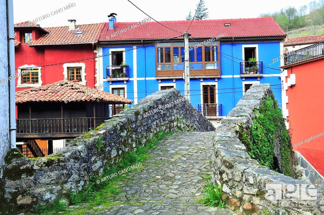 Stock Photo: Carreña is a parish in Cabrales, Asturias, Spain.