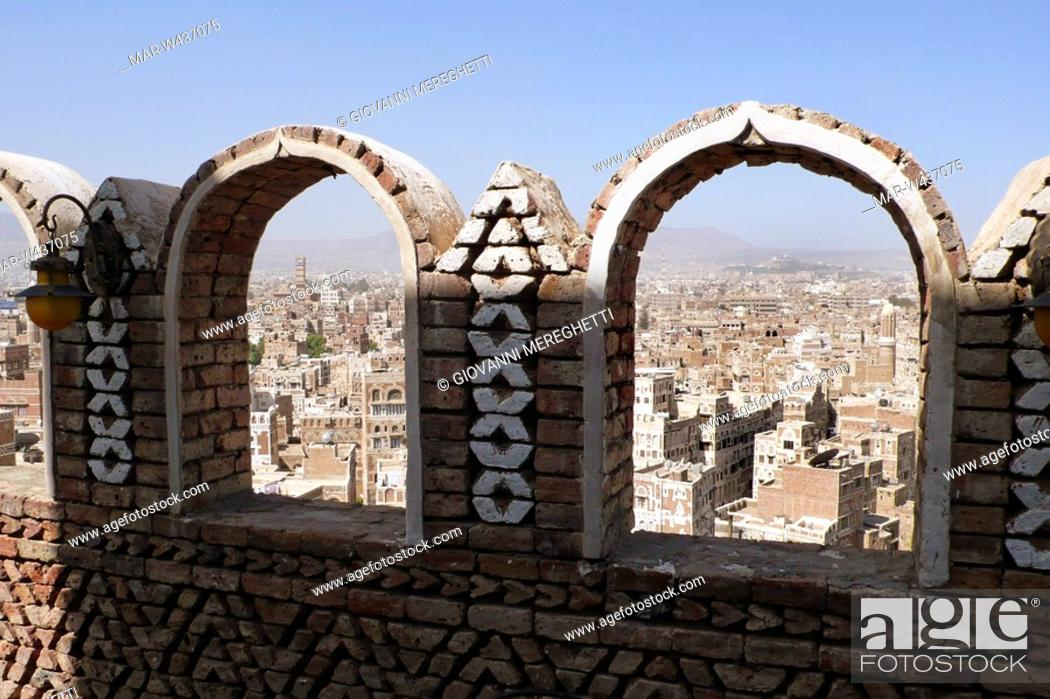 Stock Photo: sana'a, yemen.