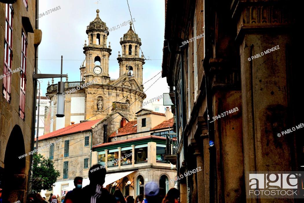 Stock Photo: A Peregrina. Church of Virgin Pilgrim, Pontevedra, Spain.