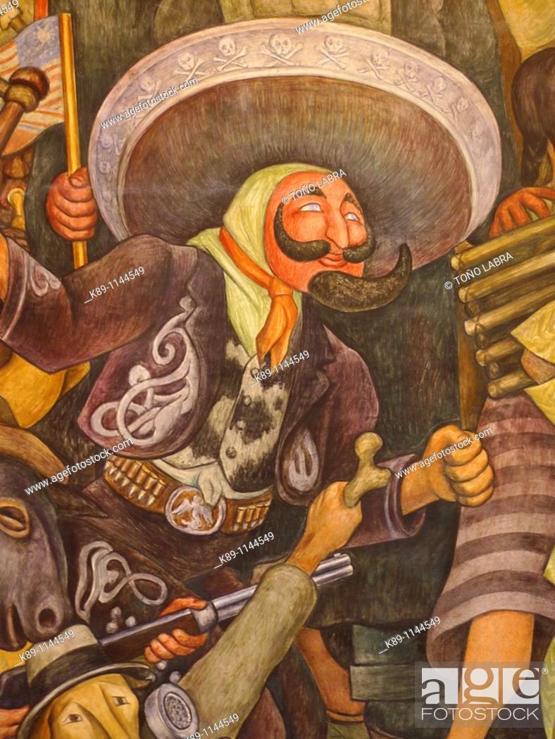 Mural Paintings By Diego Rivera Palacio De Bellas Artes Mexico