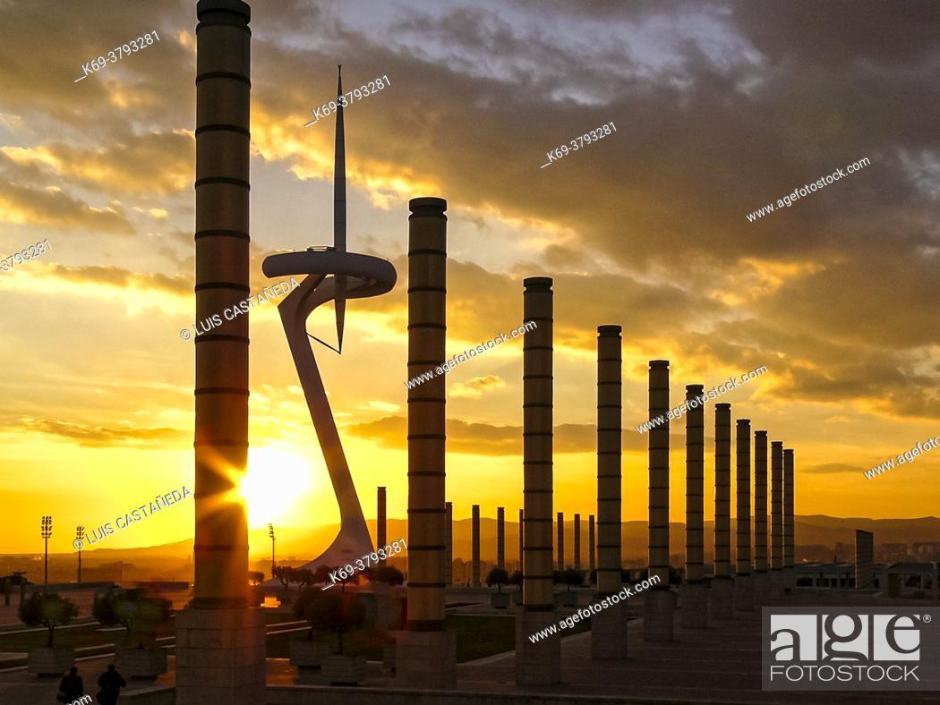 Stock Photo: The Olympic Park. Barcelona. Spain.