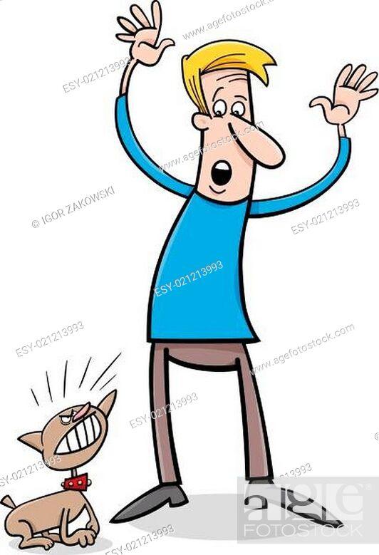 Stock Vector: bad puppy cartoon illustration.