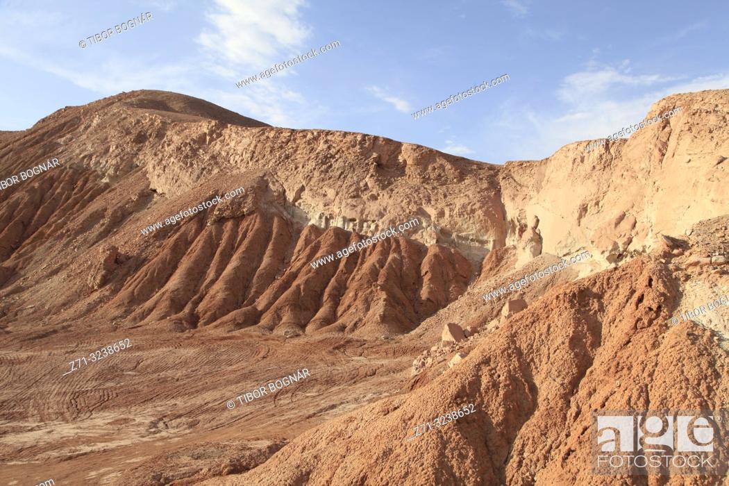 Stock Photo: Chile, Antofagasta Region, Atacama Desert, Valle de Marte; Valle de la Muerte,.