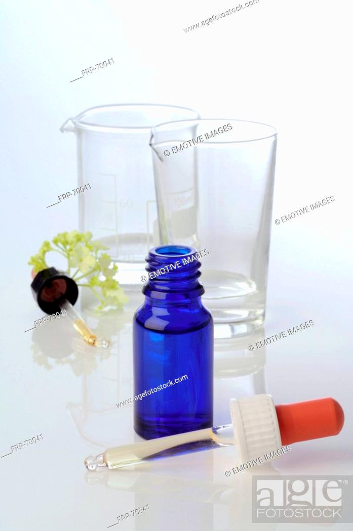 Stock Photo: Pipet bottle: homeopathic remedy.