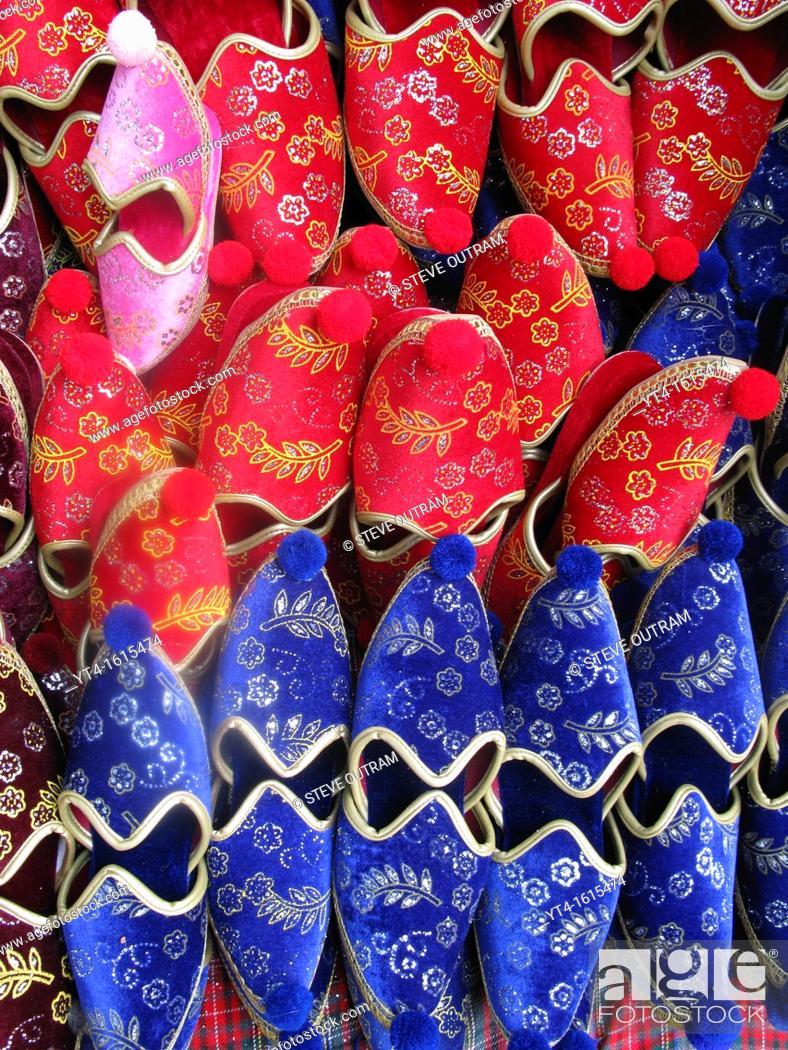 Stock Photo: Turkish Slippers, Istanbul, Turkey.