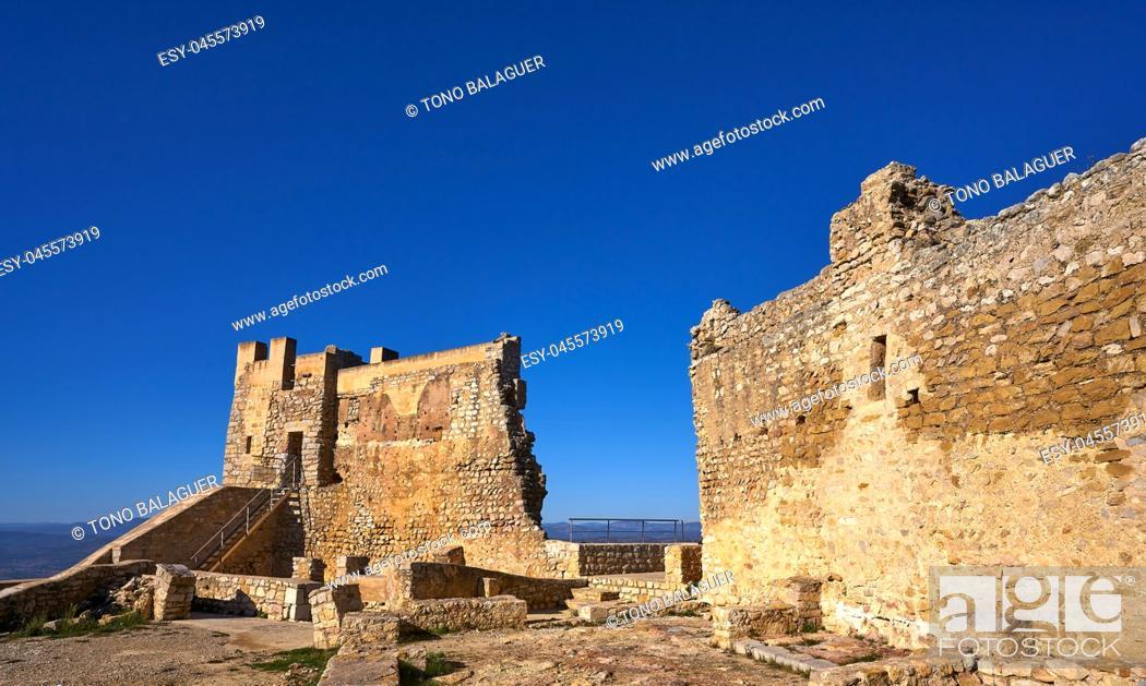 Stock Photo: Xivert castle in Alcala de Chivert of Castellon Templarios of Spain.