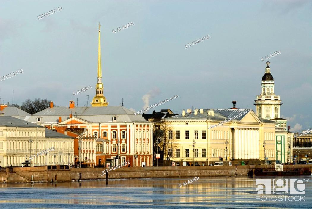 Stock Photo: Russia, St Petersburg, Vassilievsky island.