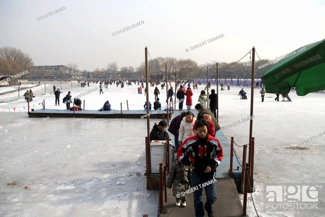 Stock Photo: At Qianhai Park, Beijing, China.