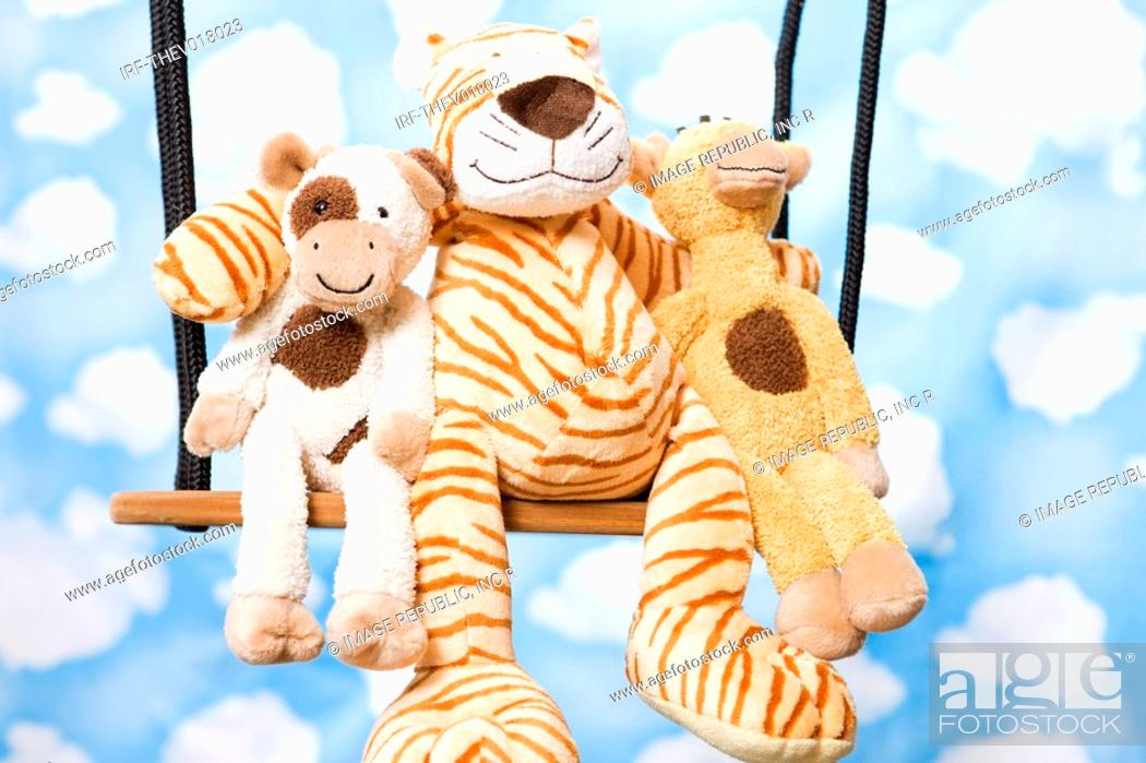 Stock Photo: wallpaper and animal shape, cow, giraffe and tiger.