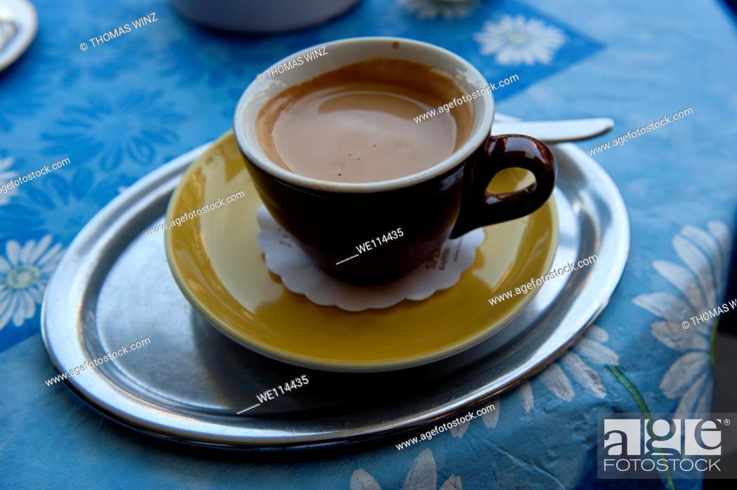 Stock Photo: Espresso in a cafe.