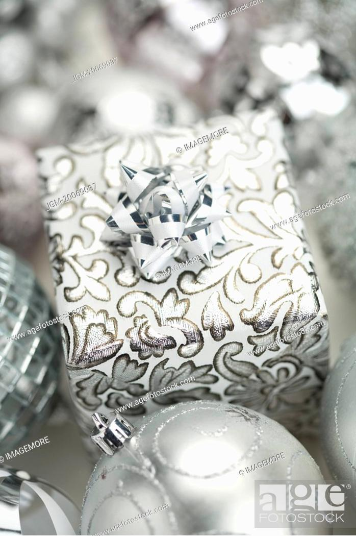 Stock Photo: Gift in color of Silver.
